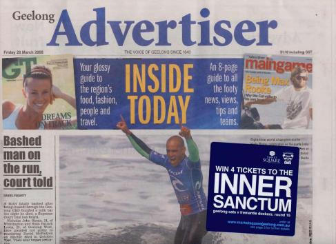 Geelong Advertiser Cover Up