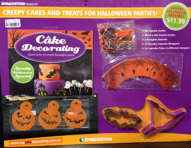 Halloween Cake Decorations Au : Timely Cake Decorating Halloween themed partwork issue ...