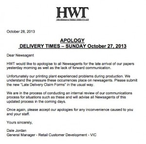 letter of apology to customer for late delivery