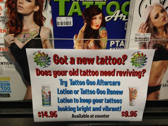 Selling tattoo goo with tattoo magazines australian for Tattoo goo where to buy