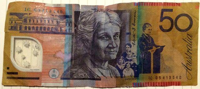 how to tell fake 50 notes australia