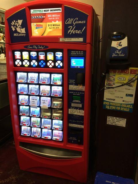 lottery ticket machine