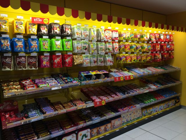 Excellent sweets display at Zoodle | Australian Newsagency ...