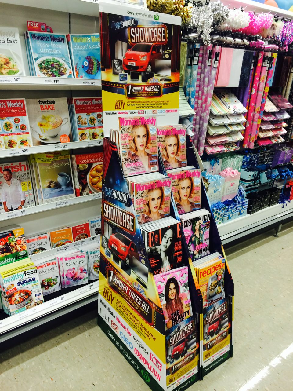 woolworths exclusive magazine promotion