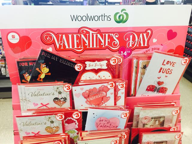 cheap valentine's day cards at woolworths | australian newsagency blog, Ideas