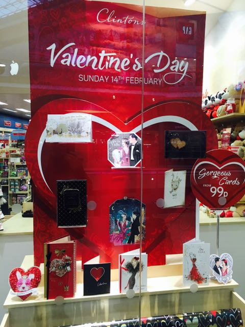 Valentines Day at Clinton cards – Clintons Valentines Cards