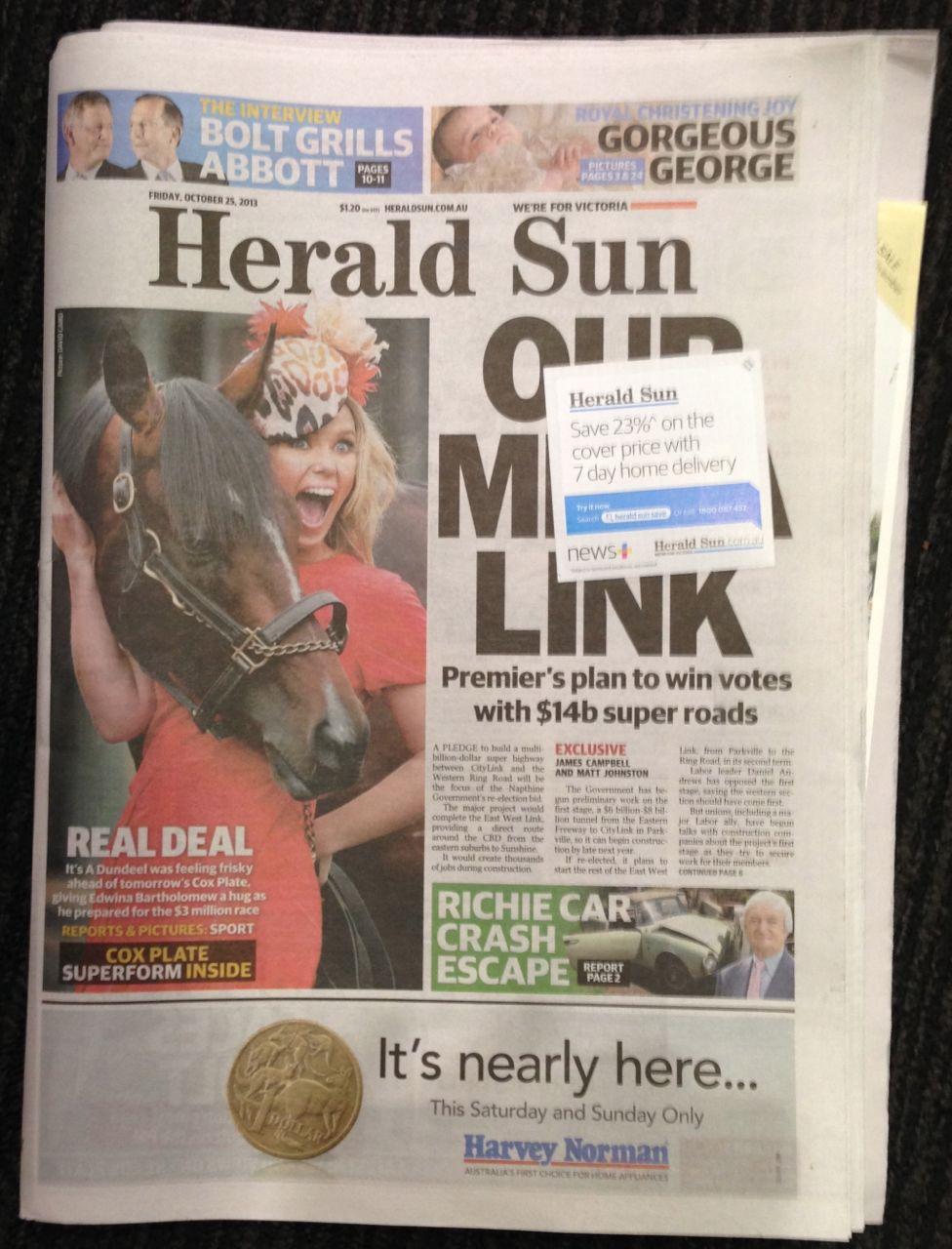 Herald Sun audience readership figures   Herald Sun
