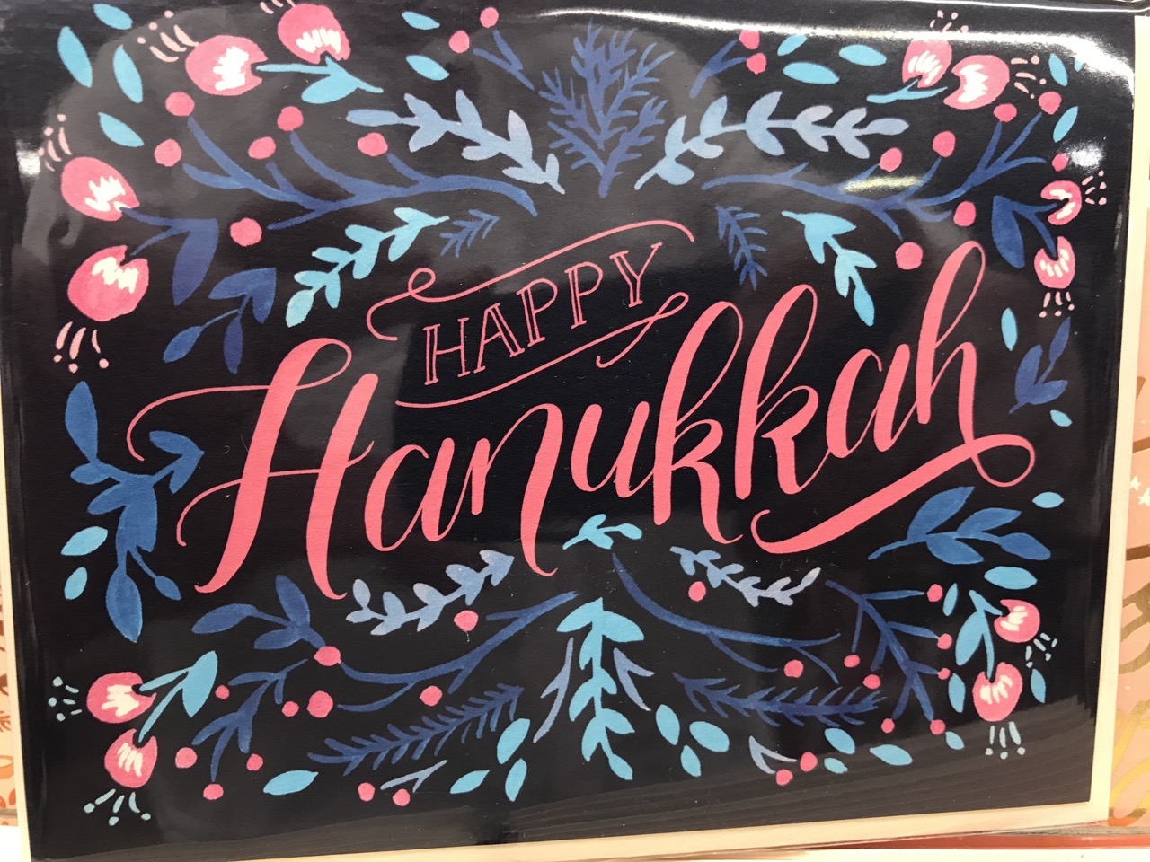 Pitching Hanukkah Cards At The Counter