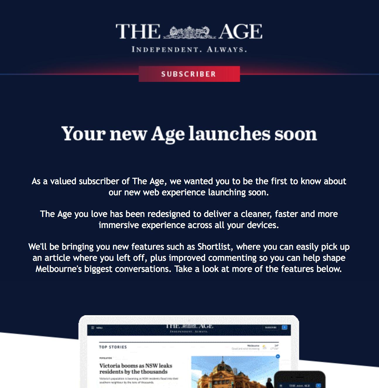 Experience in updating website