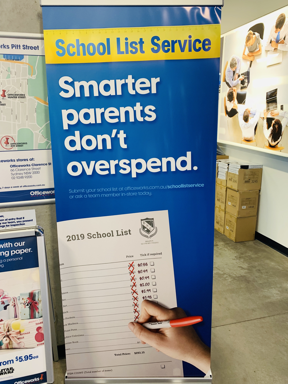 d17965ac8 Officeworks in strong back to school pitch